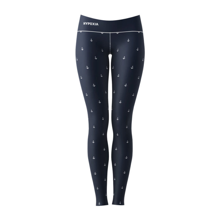 Hypoxia Freediving Spearfishing Anchors Away Dive Leggings BACK